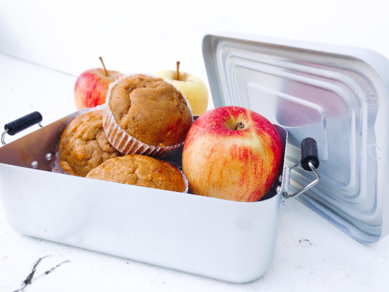 Zuckerfreie Apfelmuffins